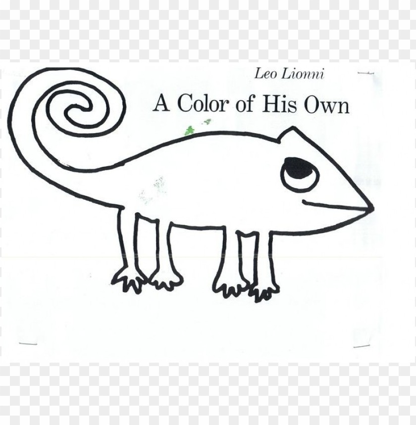 Download a color of his own chameleon coloring page png ...