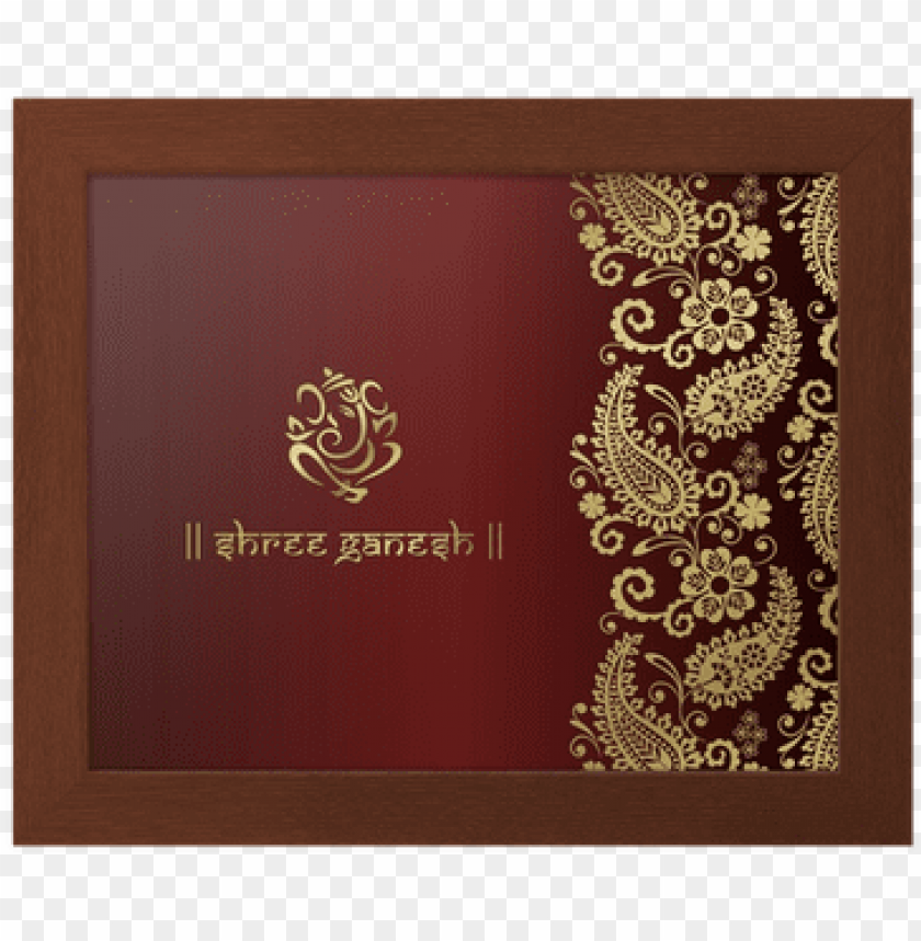 Download Anesh Traditional Hindu Wedding Card Design India Indian Desi Png Free Png Images Toppng
