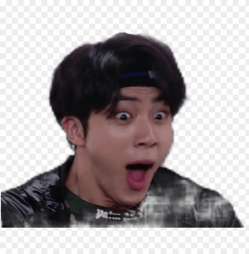 Download Army Bts Jin Meme Momo Sticker Bts Meme Face Ji Png