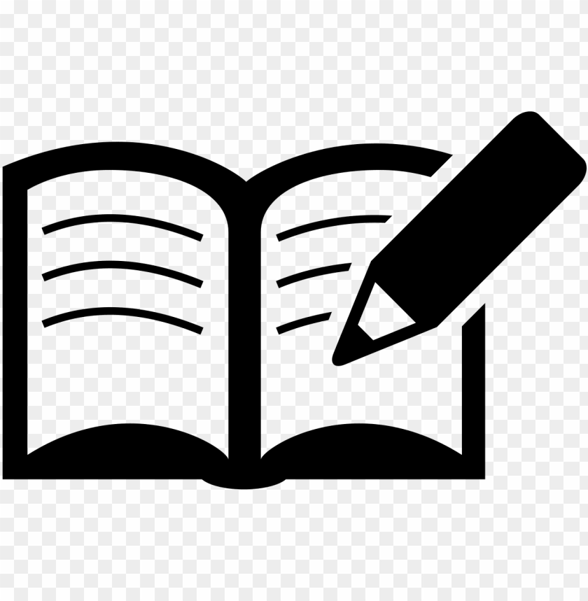 Download Book And Pencil Icon Png Free Png Images Toppng