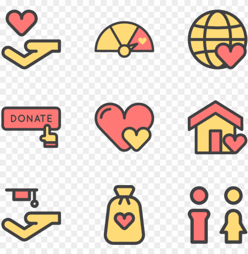Download Charity 30 Icons Donating Icons Png Free Png Images Toppng