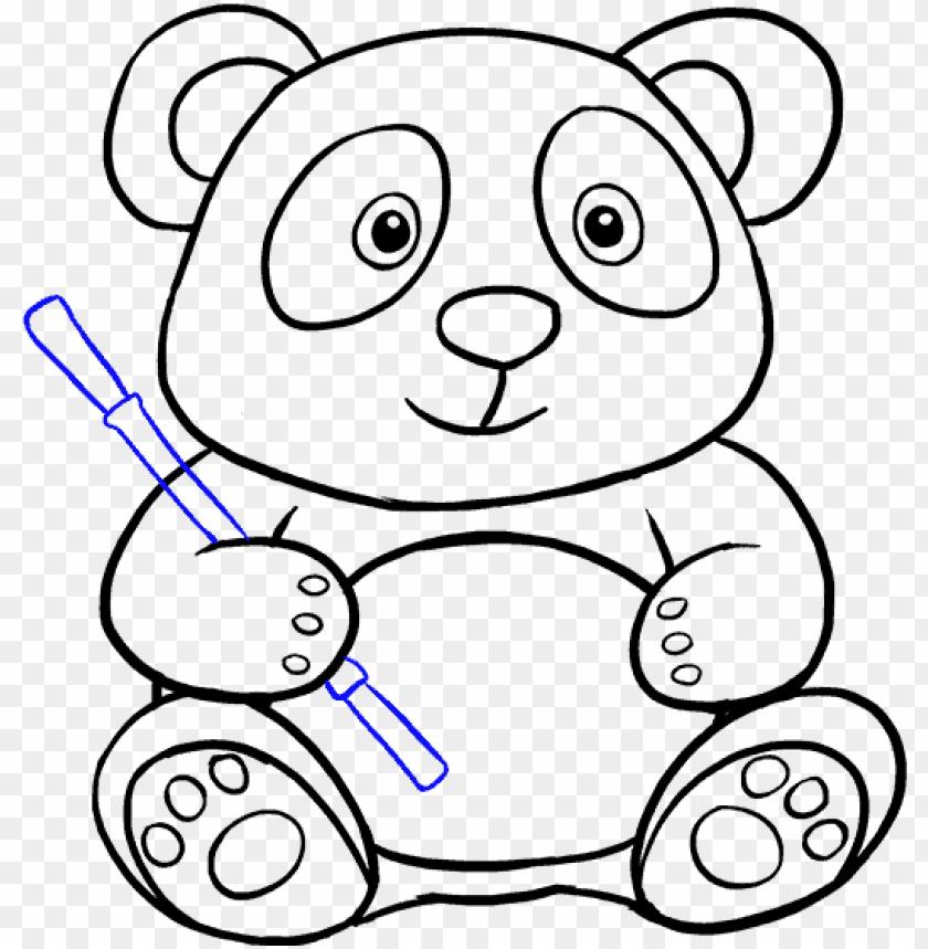 Download Cute Panda Drawing Tumblr Why Are You Reporting This Gambar Sketsa Panda Lucu Png Free Png Images Toppng