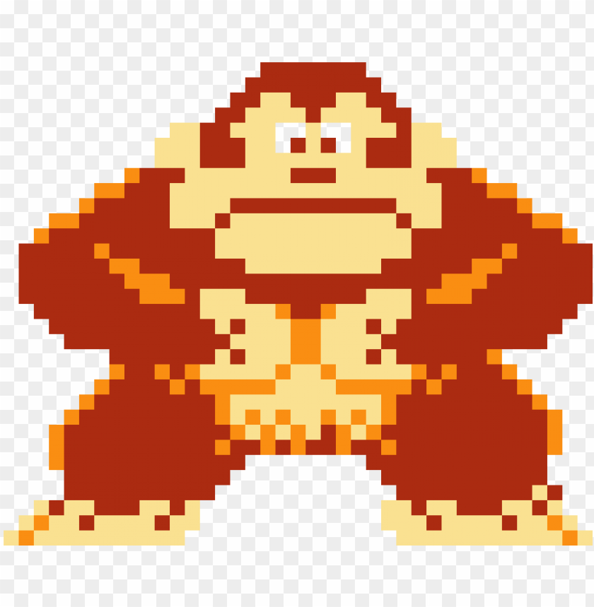 Download Donkey Kong Donkey Kong Pixel Art Minecraft Png