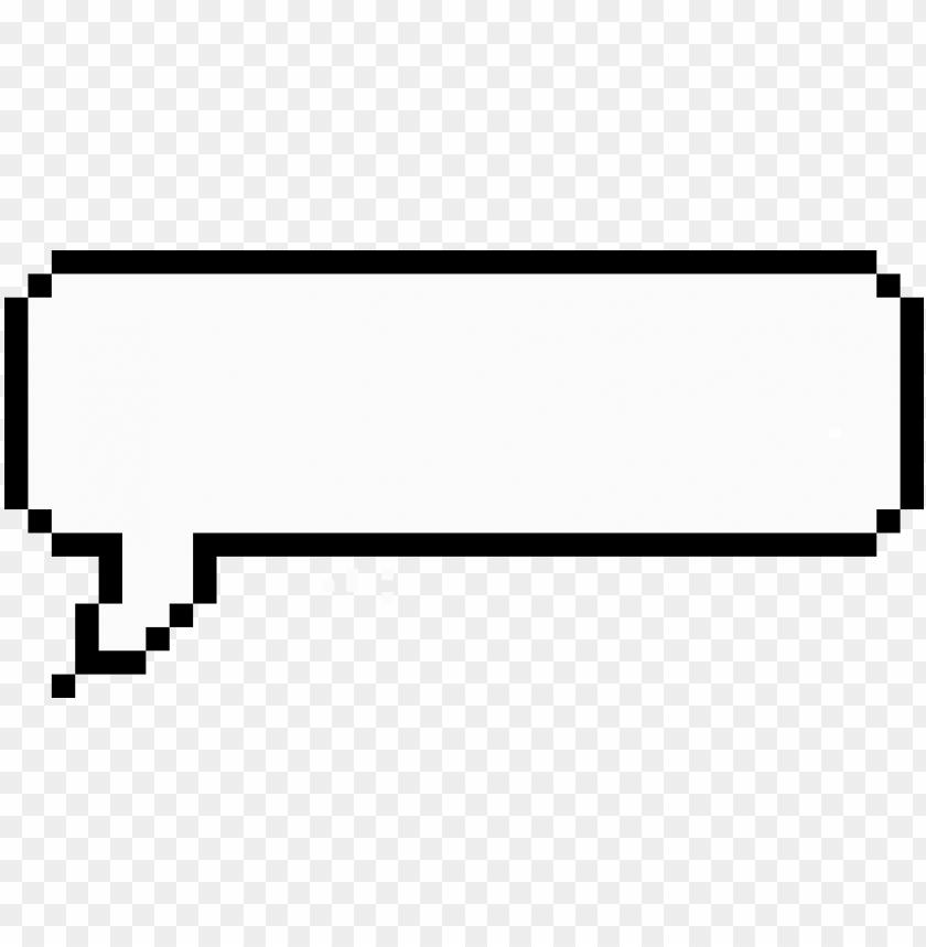 Download Empty Speech Bubble Pixel Chat Bubble Transparent Png