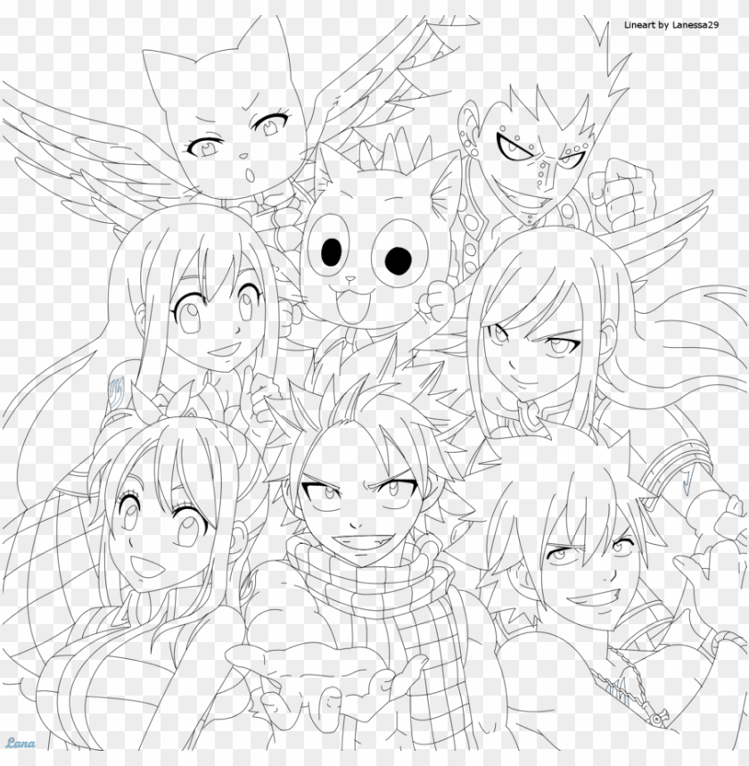 Download Fairy Tail Coloring Pages Chibi Fairy Tail Para Colorir