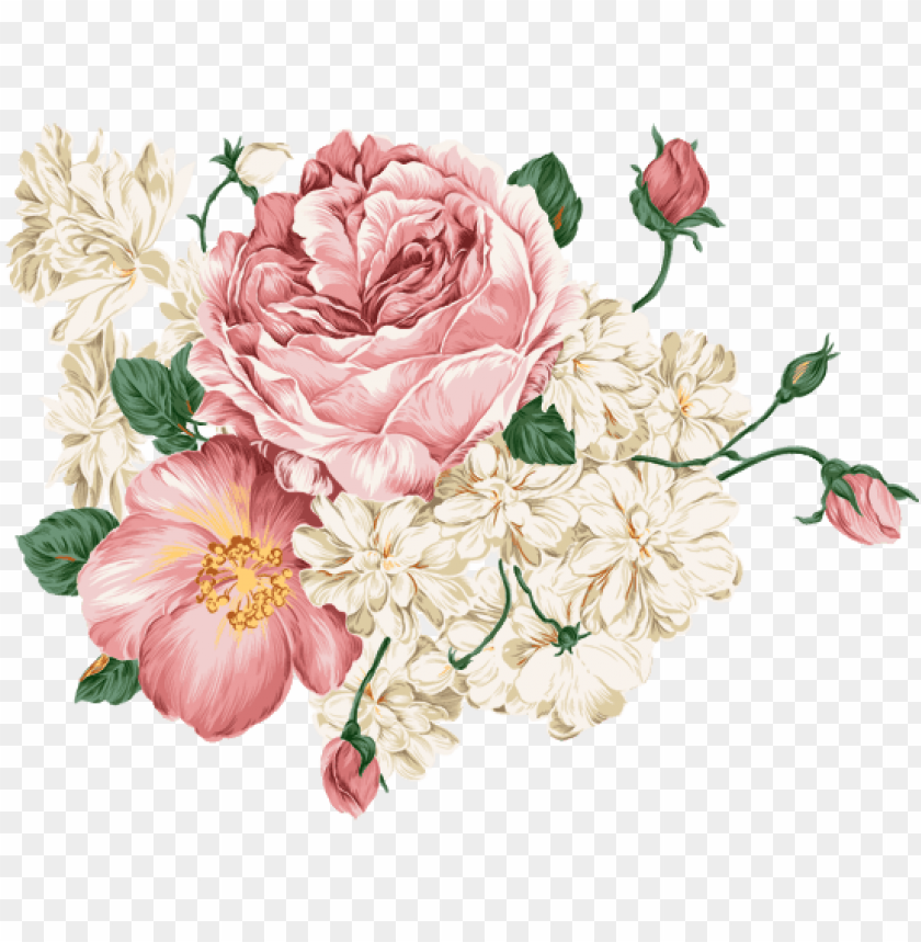 Download Flores Vintage Png Free Png Images Toppng