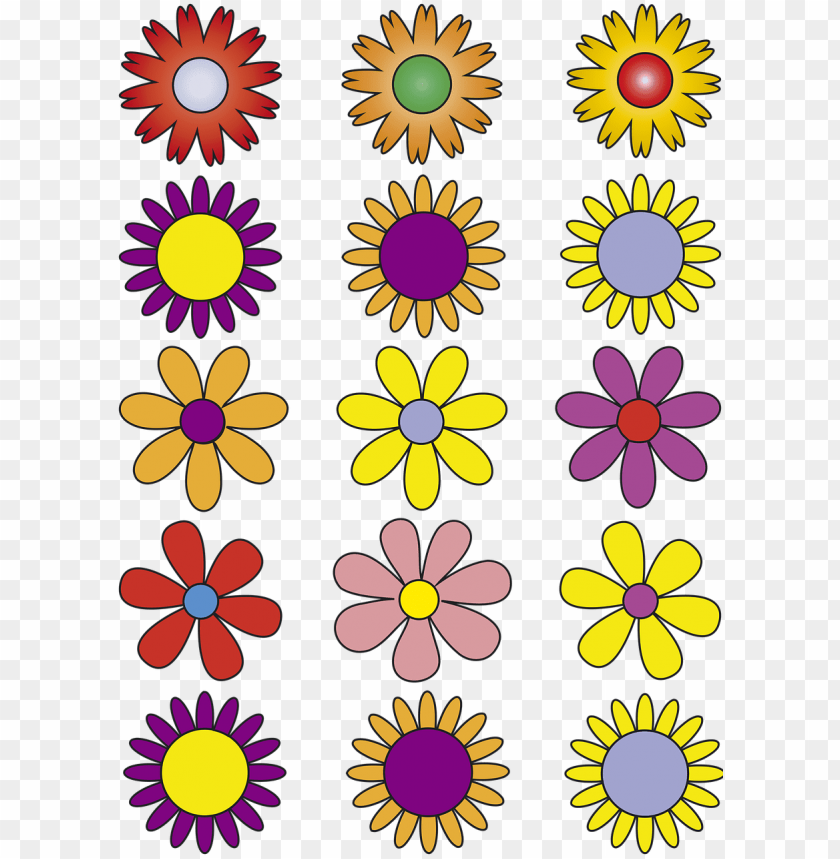 Download Flowers Vector Flowers Abstract Floral Vektor Bunga Png Free Png Images Toppng