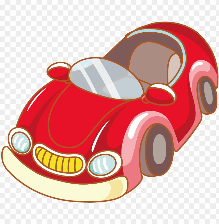 Download Red Sports Car Vector Material Gambar Kartun Driver