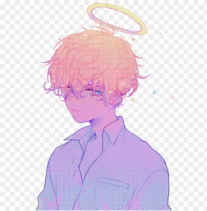 Download Sticker Anime Aesthetic Rainbow Sad Pastel Japan Boy