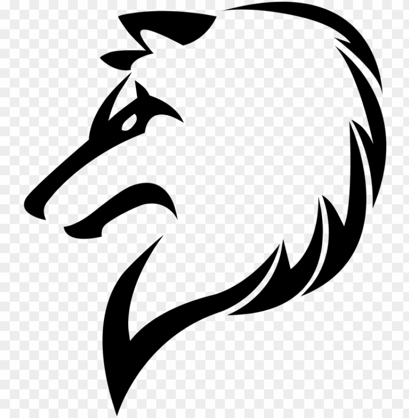 Download Wolf Png Logo Transparent Library Tribal Wolf Drawi Png