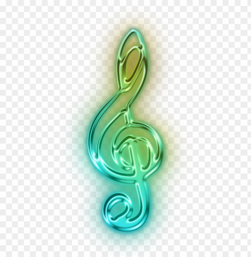 1024 x 1024 2 - neon music notes PNG image with transparent
