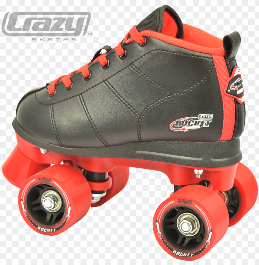 free PNG 148 inline crazy skates - crazy skates rocket kids roller skate (black / red, PNG image with transparent background PNG images transparent