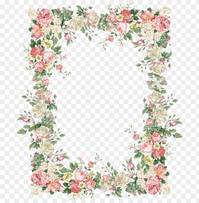 free PNG 15 vintage floral border png for free download on mbtskoudsalg - vintage flowers frame PNG image with transparent background PNG images transparent