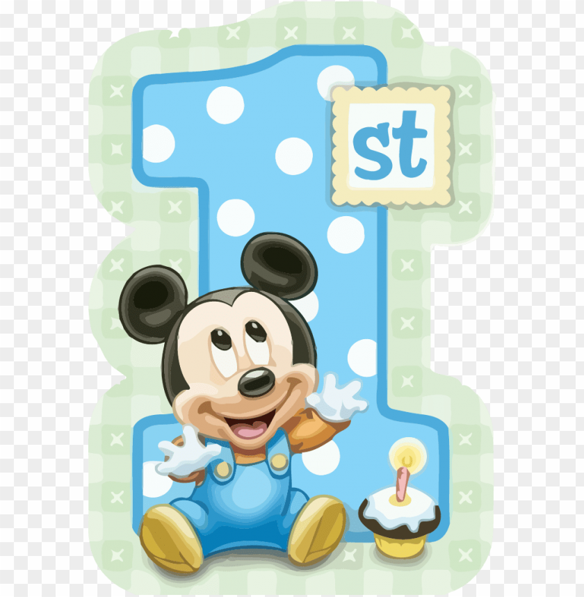 Free PNG 1st Birthday Mickey Mouse Image With Transparent Background Images