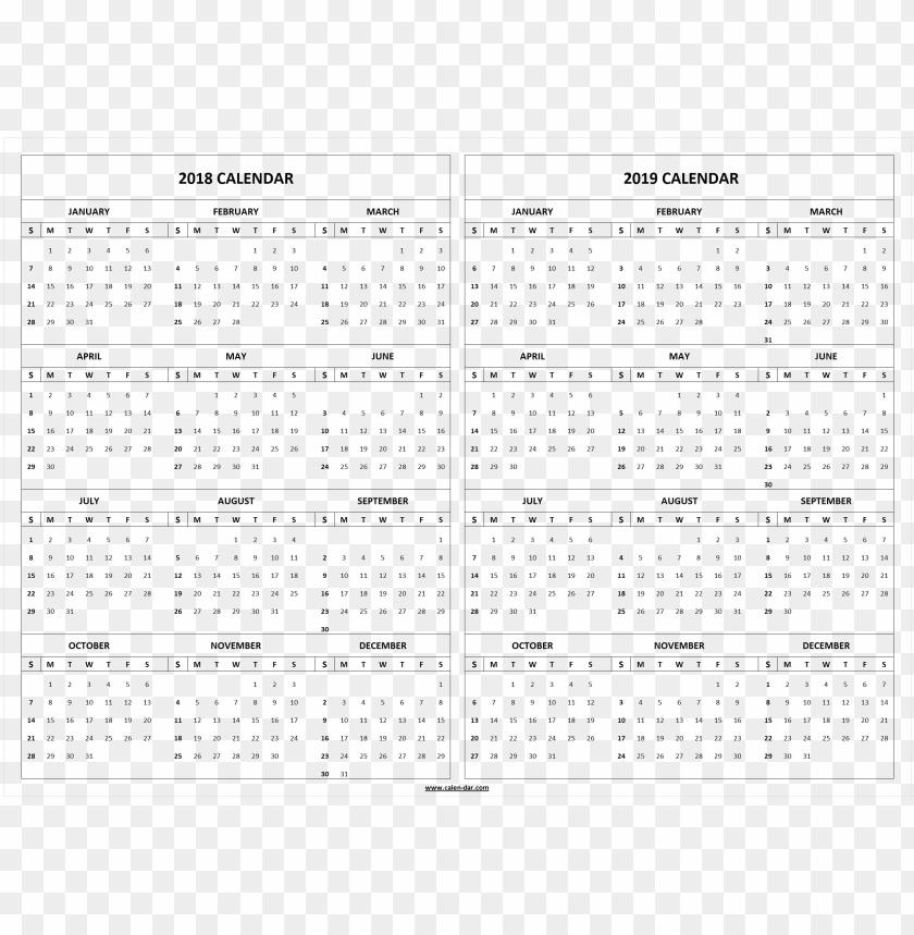 free PNG Download 2018 2019 calendar hd s png images background PNG images transparent