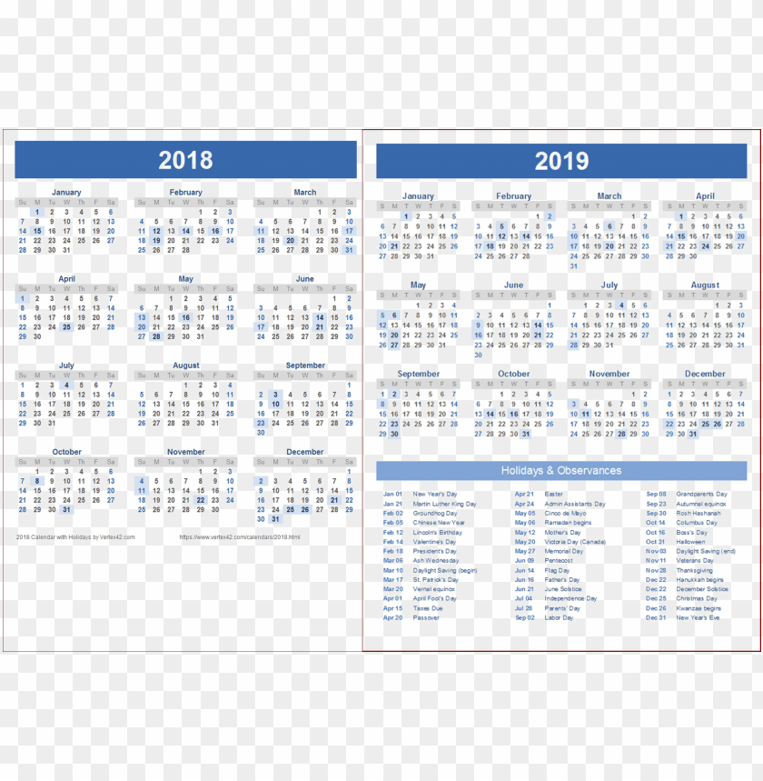free PNG 2018 2019 calendar png wallpaper PNG images transparent