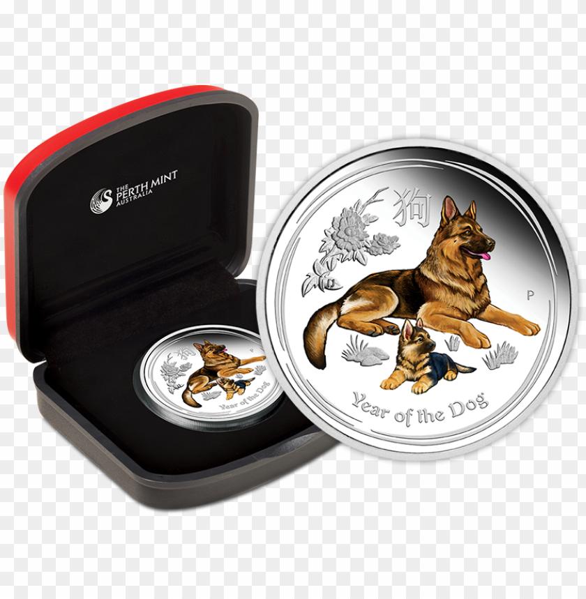 free PNG 2018 australian lunar dog 1oz silver coloured coi PNG image with transparent background PNG images transparent