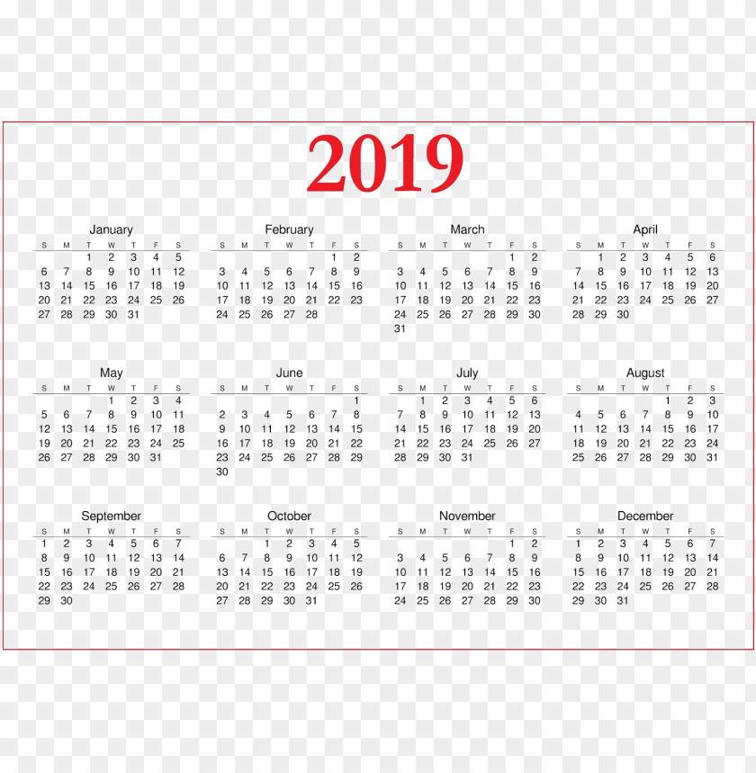 free PNG Download 2019 calendar png images background PNG images transparent