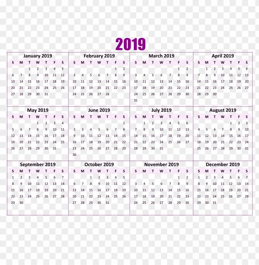 free PNG Download 2019 calendar png wallpaper png images background PNG images transparent