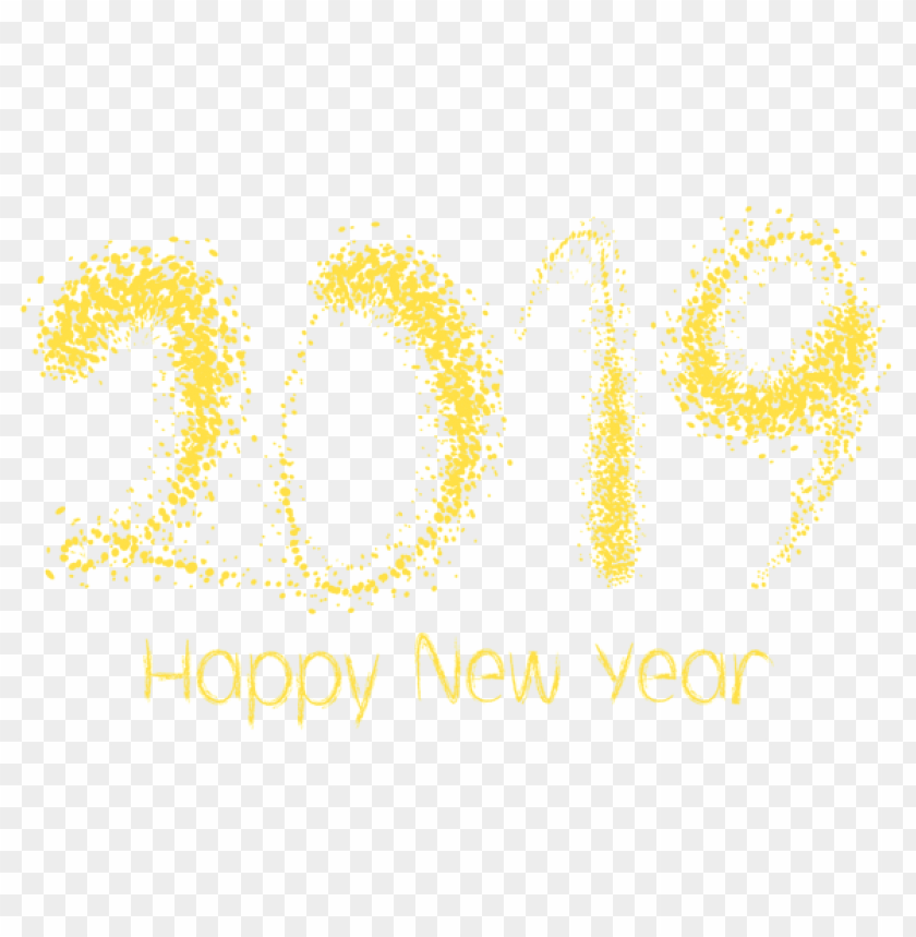 free PNG 2019 happy new year png - Free PNG Images PNG images transparent