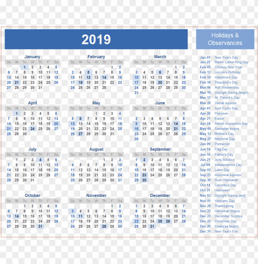 2019 Indian Calendar Png Wallpaper Png Free Png Images Toppng