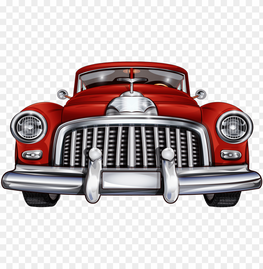 free PNG 28 collection of red classic car clipart - vintage car front view PNG image with transparent background PNG images transparent