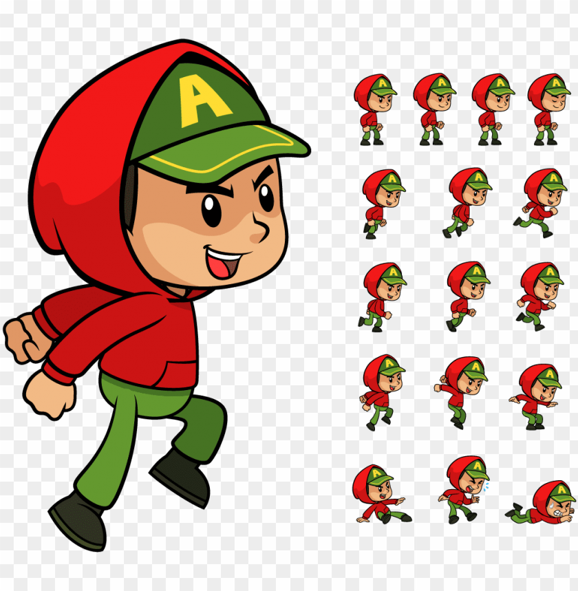 2d character sprite PNG image with transparent background