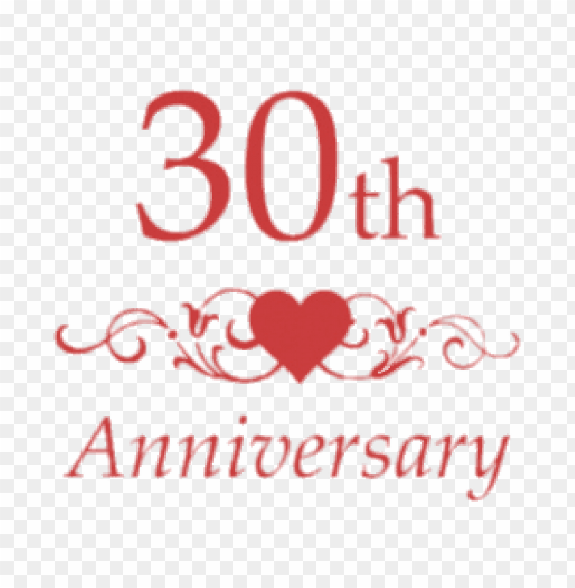 30th wedding anniversary PNG image with transparent