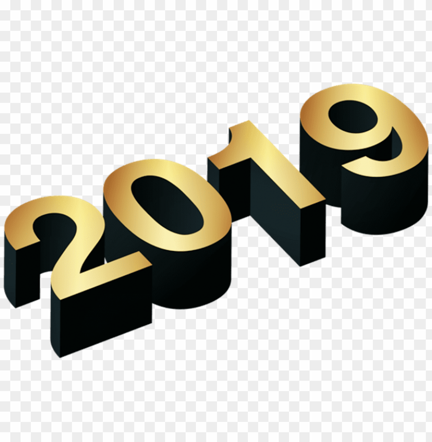 free PNG Download 3d numeric 2019 golden png png images background PNG images transparent