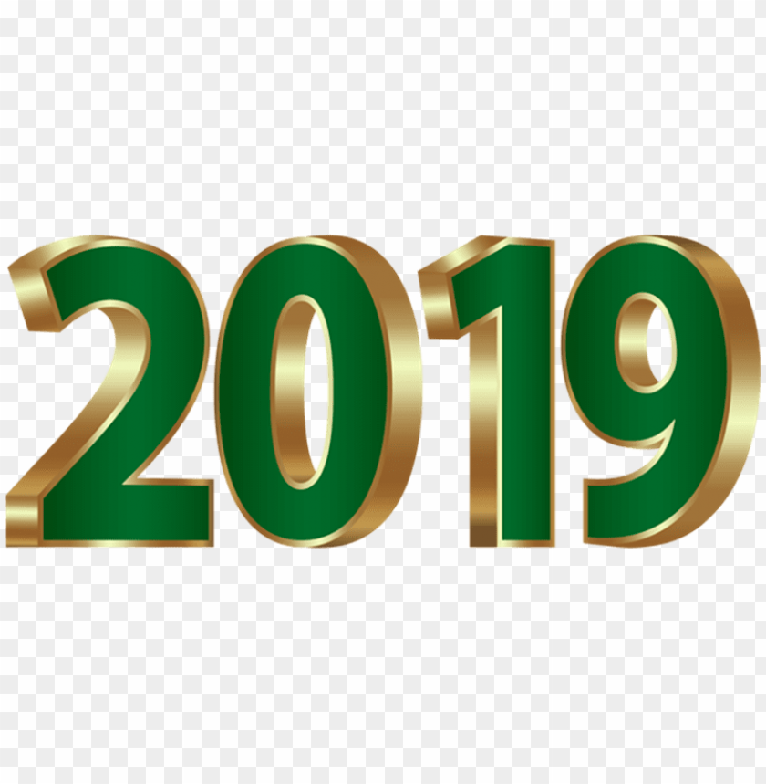 free PNG 3d numeric 2019 green png PNG images transparent