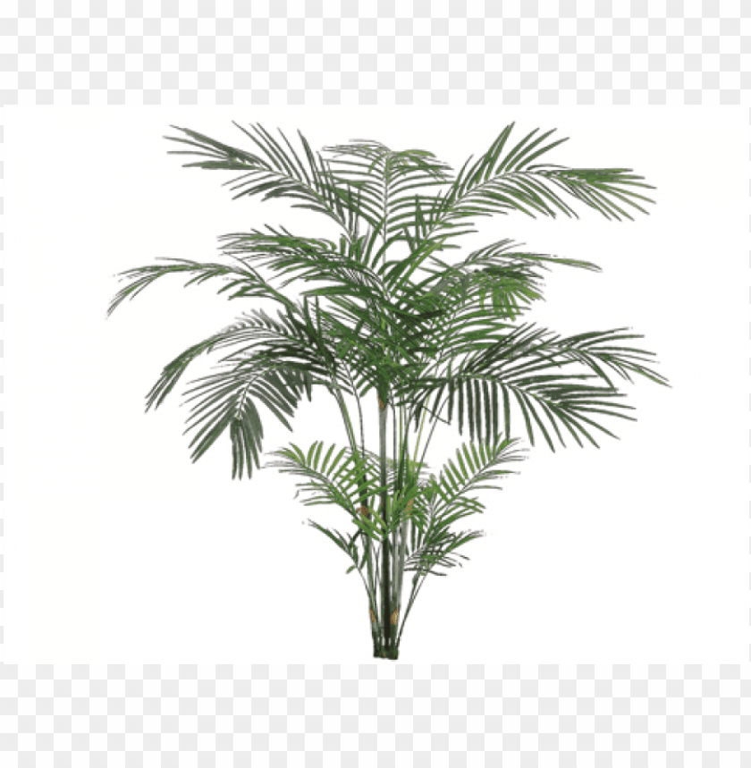 7' tropical areca palm x4 with 705 leaves - silk plants