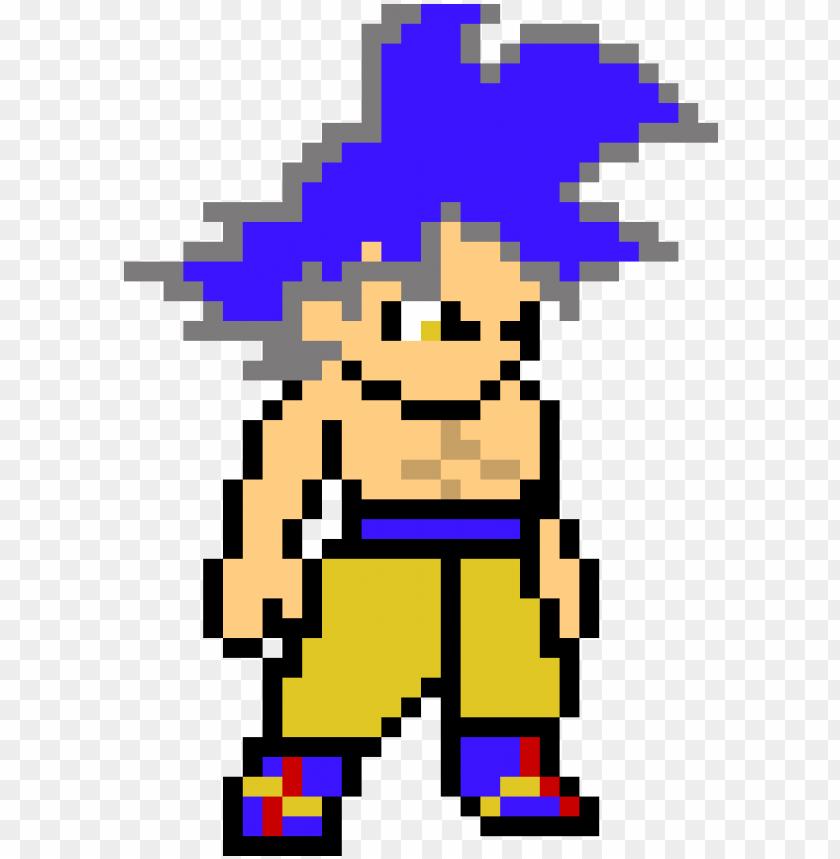 8bit Goku Ultra Instinct Goku Ssj God Pixel Art Png Image