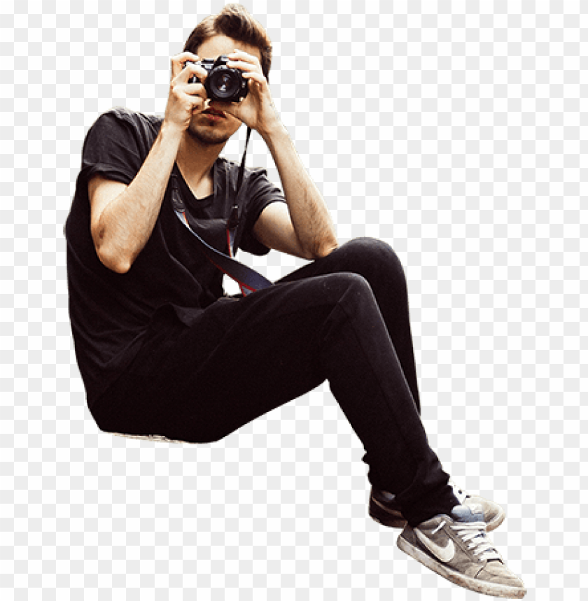 free PNG a hipster looking man is seated on a hill and taking - person sitting on the edge PNG image with transparent background PNG images transparent
