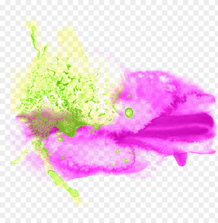 Abstract Color Splash Png Image With Transparent Background