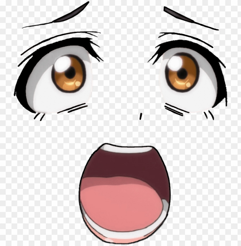 free PNG ahegao face png - anime eyes and mouth PNG image with transparent background PNG images transparent