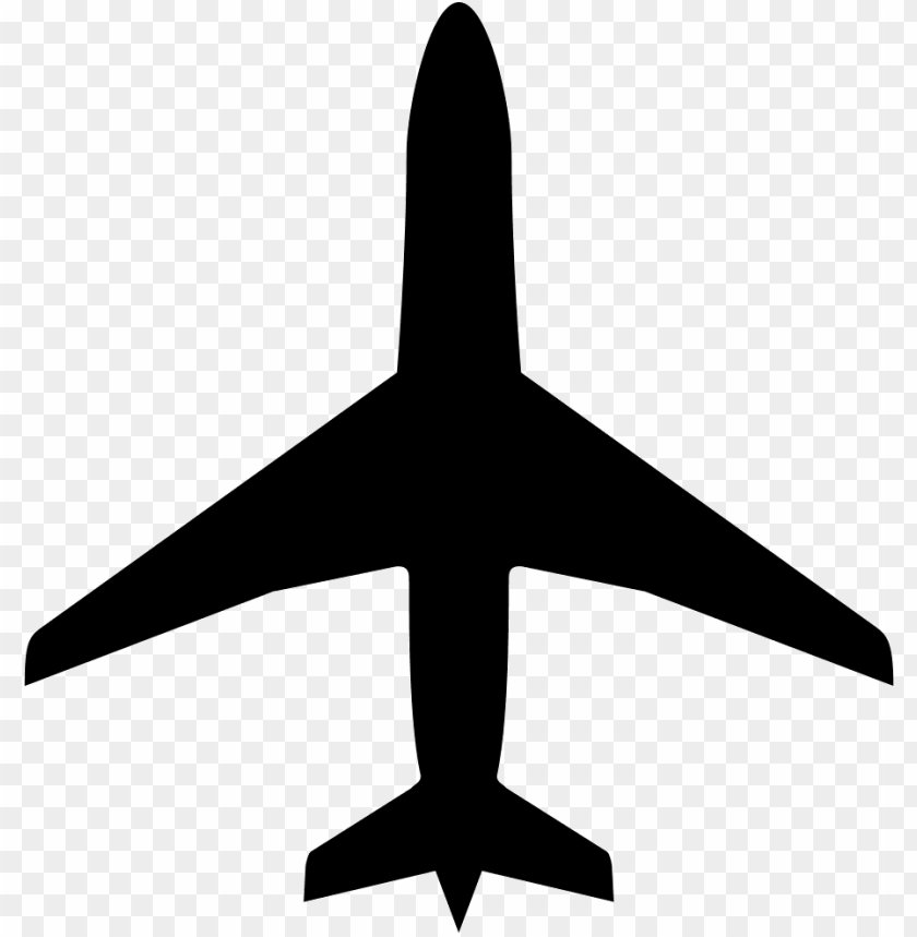 Airplane Silhouette Hd PNG Image With Transparent