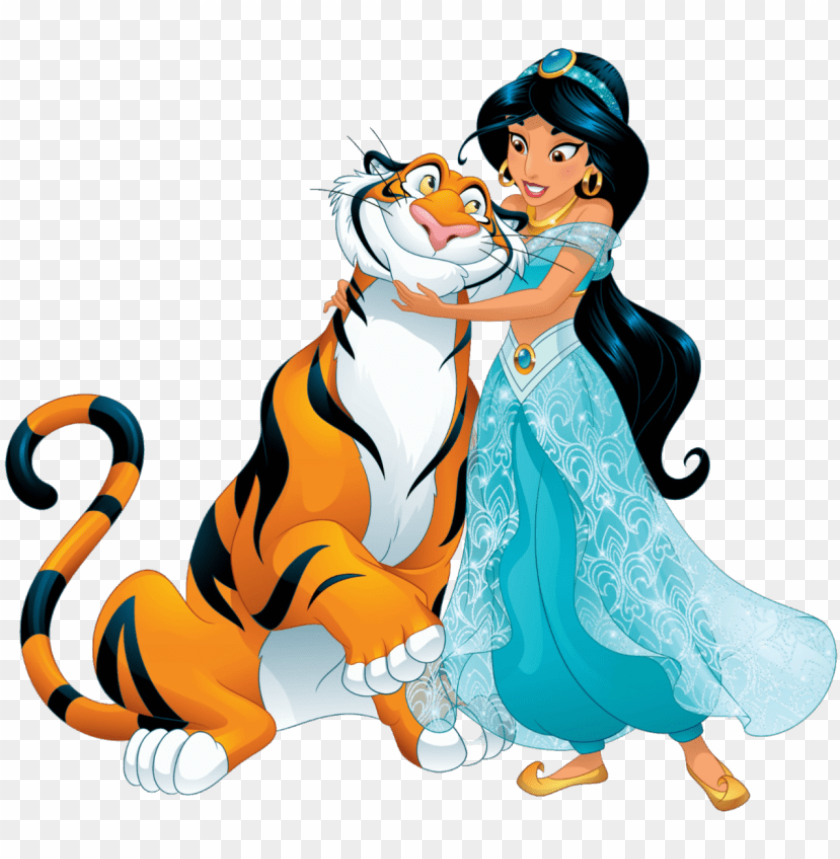 free PNG aladdin jasmine 8 png - disney jasmine and rajah PNG image with transparent background PNG images transparent