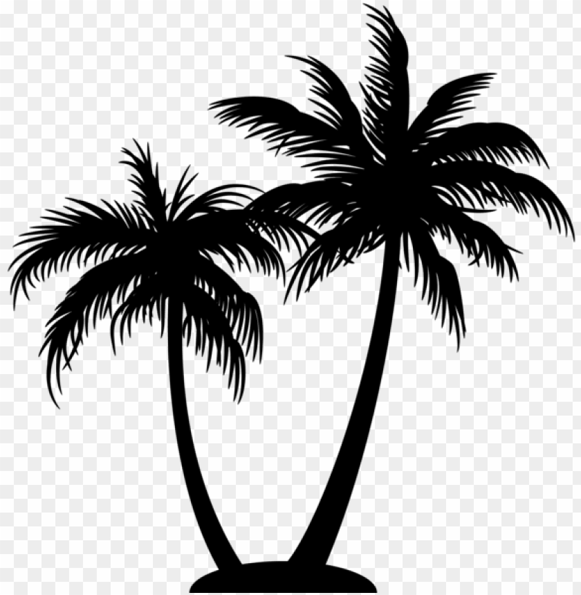 free PNG alm tree logo on black and white - coconut tree silhouette PNG image with transparent background PNG images transparent