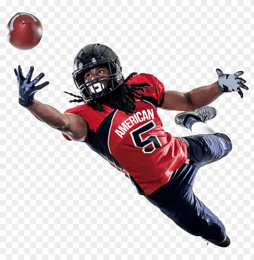 free PNG Download american football player catching a ball png images background PNG images transparent