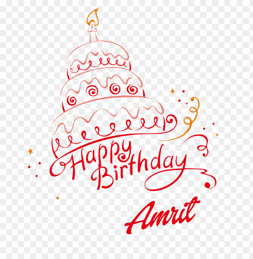 free png amrit happy birthday name png PNG images transparent