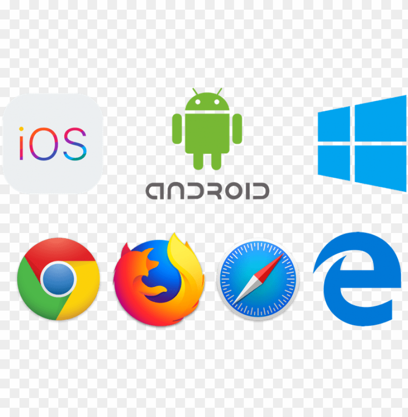 free PNG and run it natively on ios, android, windows , and - android ios windows icon PNG image with transparent background PNG images transparent