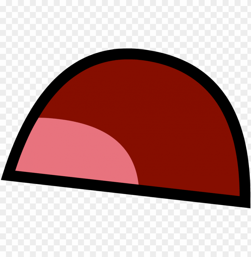 angry mouth open - bfdi pen mouth frow PNG image with