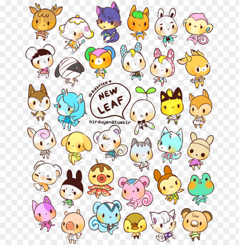 Animal Crossing New Leaf Drawings Png Image With Transparent