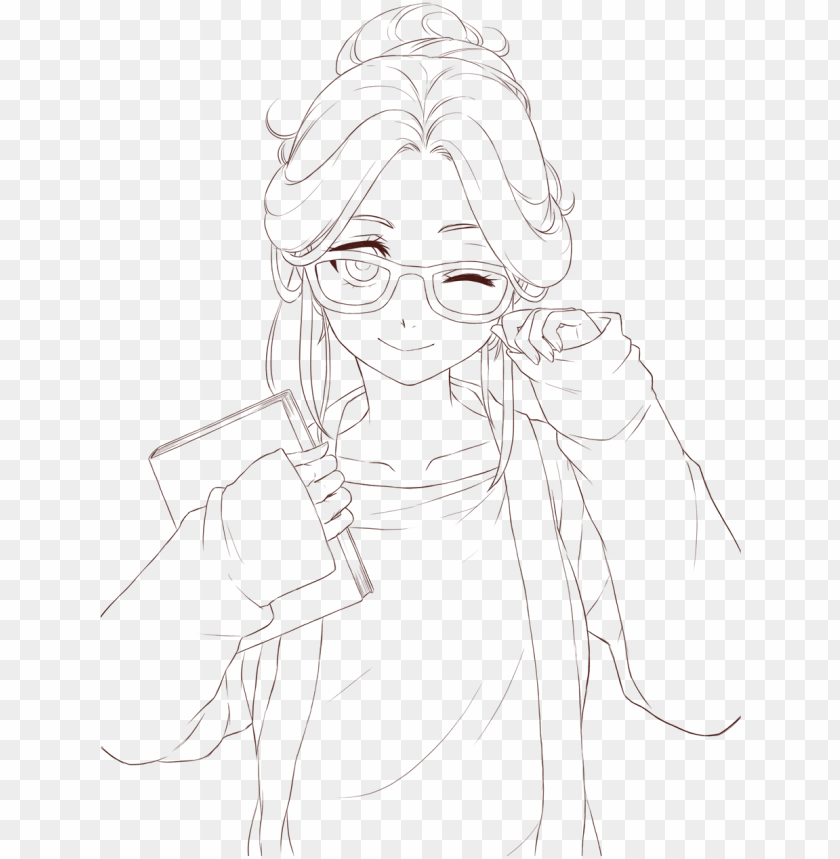free PNG anime lineart transparent - line art PNG image with transparent background PNG images transparent