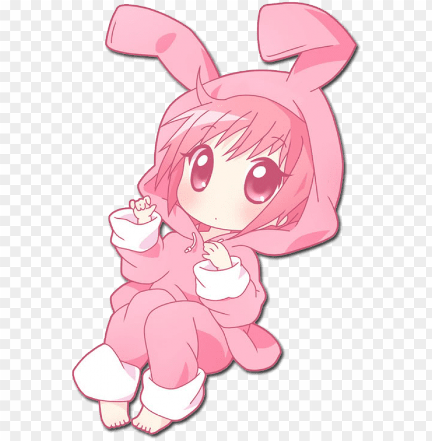 Anime Smile Gif Photo Chibi Bunny Anime Girl Png Image With