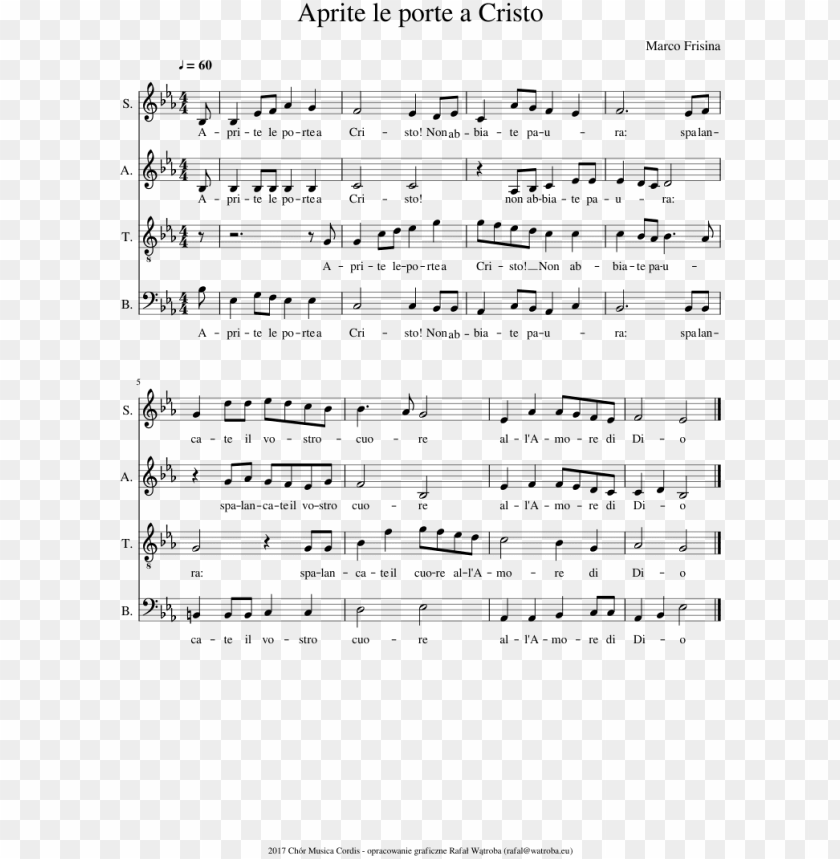free PNG aprite le porte a cristo sheet music composed by marco - aprite le porte a cristo spartito PNG image with transparent background PNG images transparent