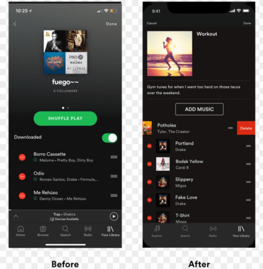 artboard4 - spotify playlist mobile mocku PNG image with