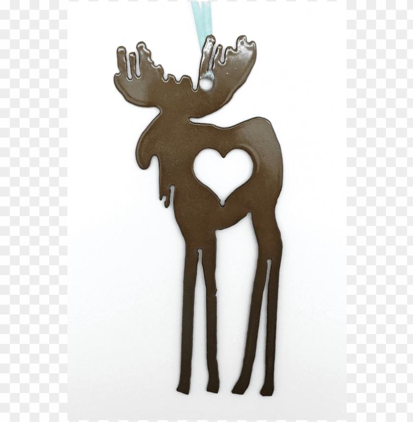 free PNG atina metal moose heart ornament - reindeer PNG image with transparent background PNG images transparent