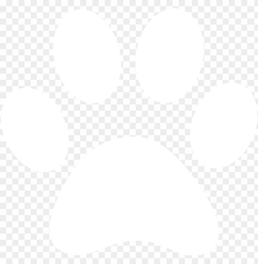 aw print vector art - white transparent paw print PNG image