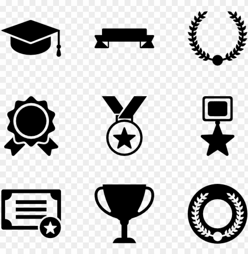Awards Set 16 Icons Resume Icons Awards Png Free Png Images
